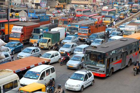 Bangalore city traffic Redactioneel