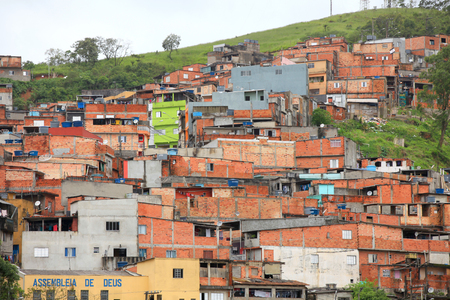 conglomeration: Favela near the city of Sao Paulo