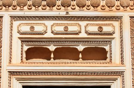 indo: Balcony on Paigah tombs Stock Photo