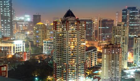뭄바이 스카이 라인 스톡 콘텐츠