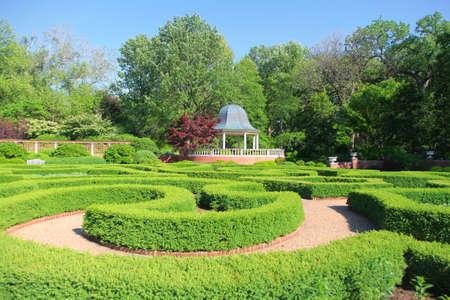 saint: Saint Louis Botanical garden. Stock Photo