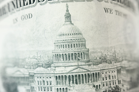 50 dollar bill: Capitol building on 50 dollar bill Stock Photo