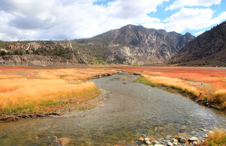 stream: Rush creek near Grant lake in Sierra Nevada mountains Stock Photo