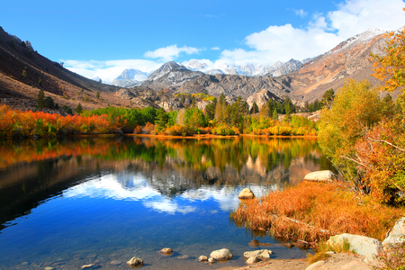 Autumn in eastern Sierra mountains Stock Photo