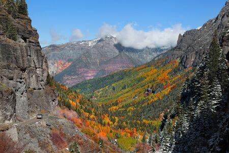 ouray: Hayden mountains near Ouray, Colorado Stock Photo