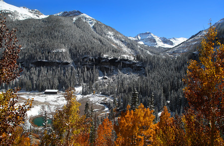 Autumn landscape in San Juan mountains Colorado