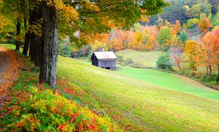 Farm landscape in rural Vermont