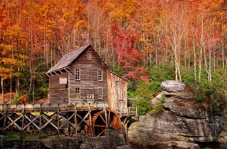 downstream: Glade creek grist mill in West Virginia