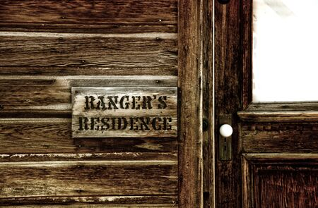 residence: Rangers residence is preserved in Bodie California