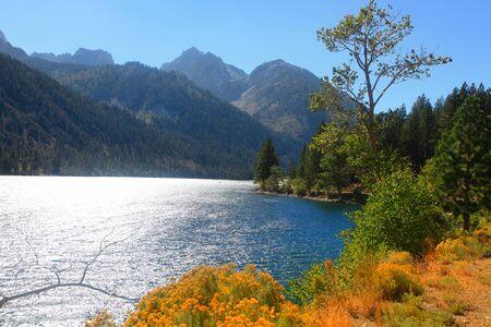high sierra: Twin lakes recreation area in Sierra Nevada mountains near Bridgeport California Stock Photo
