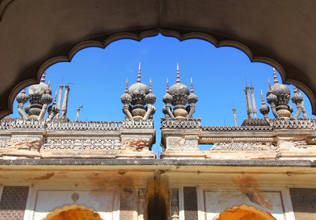 Detail architecture of historic Paigah tombs in Hyderabad, India Stock Photo