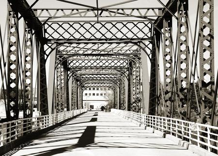 Walking bridge at Grand Rapids, Michigan Stock Photo
