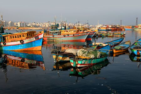 Visakhapatnam, INDIA - December 7 :Fishing harbor in Visakhapatnam was set up in 1976 spreading across 24 hectors of land . On December 7,2015 Visakhapatnam, India Editorial