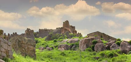 Historic Golconda fort in Hyderabad India. 版權商用圖片