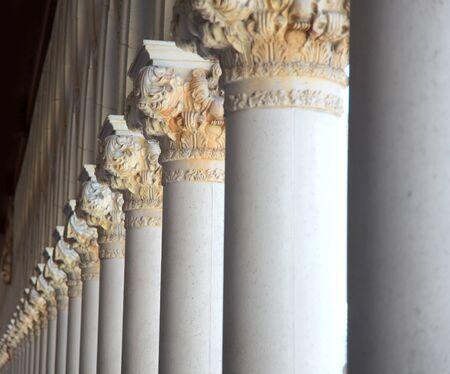italian architecture: Italian architecture of tall pillars in a row