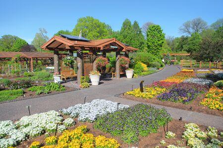 Saint Louis, MO, USA - April 28, 2016: Saint Louis botanical gardens are one of the best in the world, Saint Louis, Missouri.
