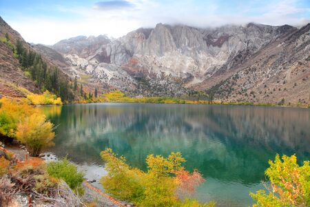 convict: Convict lake in Sierra Nevada mountains. Stock Photo