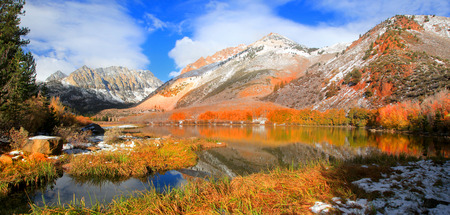 North lake landscape in Sierra Nevada mountains Stock Photo
