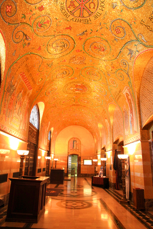 sq: Saint louis - April 29 :Cathedral Basilica of Saint Louis, decorated with 41.5 million mosaics,Covering 83,000 sq ft , is the largest mosaic collection in the world . April 29,2016 Saint Louis, USA Editorial