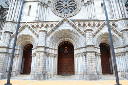 crucifiction: Cathedral Basilica of Saint Louis front entrance