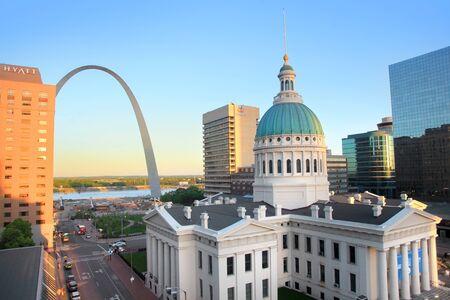 habitable: Saint Louis, MO, USA - April 28, 2016: Old courthouse in Saint Louis is Missouris tallest habitable building from 1864 to 1894. On April 27,2016 Saint Louis, USA