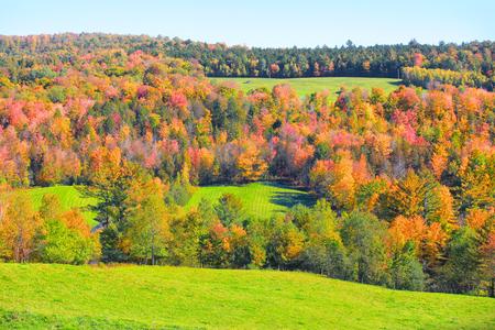 Rural Vermont in autumn time