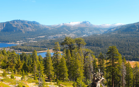 Scenic Caples lake in Sierra mountains California