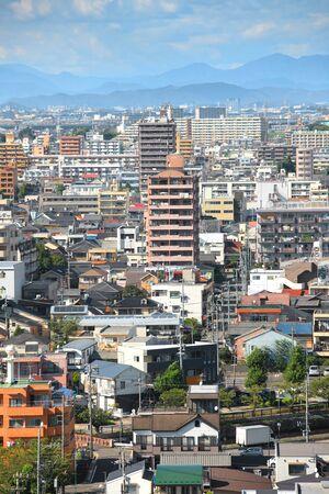 chubu: NAGOYA, JAPAN -SEPTEMBER 13: Nagoya cityscape on September 13, 2014,Greater Nagoya is is the hub of Japanese manufacturing industries, producing over 40% of manufacturing goods Nagoya city
