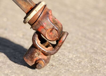 Close up shot of metal coupler,Knuckle joint