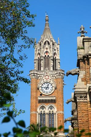 Rajabai clock tower architecture in Mumbai city in India. Stock Photo