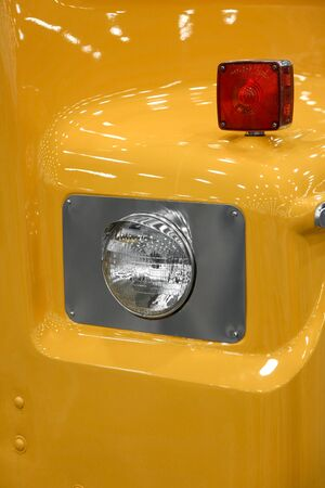 oldie: Close up shot of old truck head lamp Stock Photo