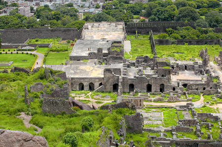 Historic Golconda fort  in Hyderabad ,India