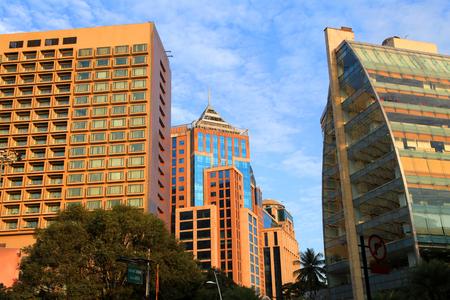 Modern buildings in Bangalore downtown 版權商用圖片 - 78866456