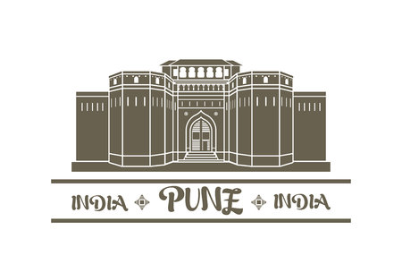 Vector illustration of Shaniwar wada in Pune India
