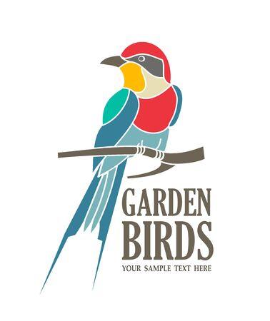 An illustration of garden birds concept Illustration