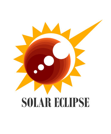 An illustration of solar eclipse icon Stock Photo
