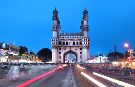 HYDERABAD,INDIA -AUGUST 29: Charminar in Hyderabad on August 29,2012, Is listed among the most recognized structures in India, Built in 1591. Editorial