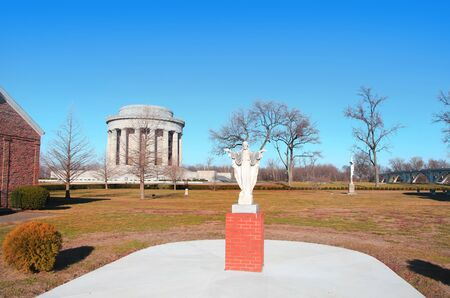 Hystoric church in George Rogers Clark national historic park in Vincennes Indiana Stock Photo