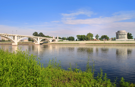 Vincennes city in Indiana by Wabash river