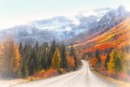 Million dollar highway in autumn time Stock Photo