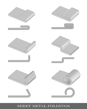 An illustration of six different vector bends