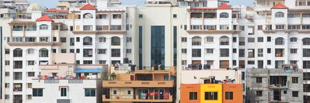 Tall apartment buildings in Bangalore city India