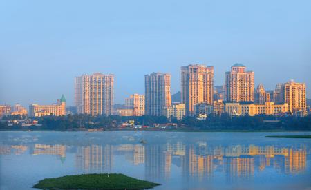 Mumbai, INDIA - December 4 : Powai is a suburb of Mumbai one of Mumbais most upmarket commercial and residential hubs, on December 4,2015 Mumbai, India