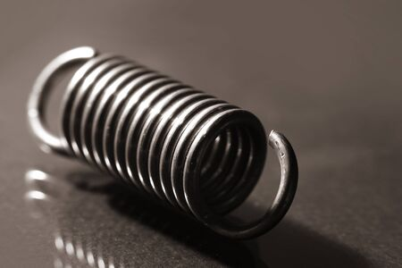 Close up shot of helical spring
