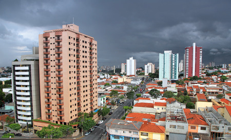 landscape of Sao Caetano do sul city in Brazil