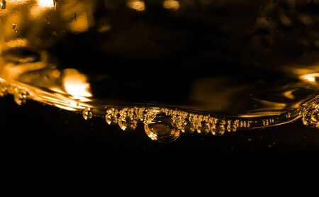 Extreme close up shot of water bubbles Banco de Imagens