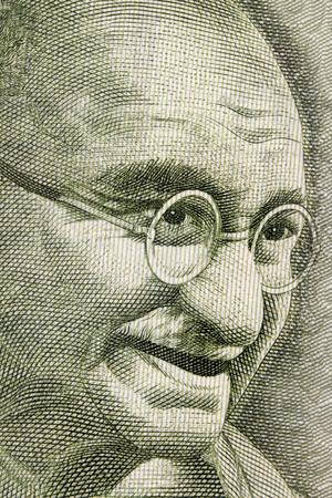 Mahatma Gandhi portrait on 500 rupee note Stock Photo