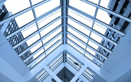 View of modern glass roof