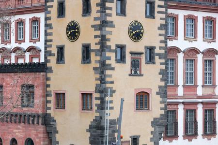 Windows on on historic European style homes