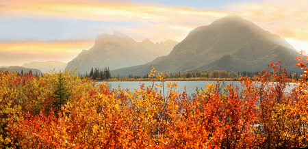 Vermilion lakes in Banff national park